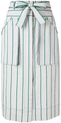 Cédric Charlier striped midi skirt