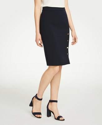 Ann Taylor Buttoned Pencil Skirt