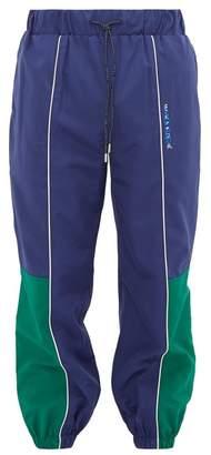 Ader Error X Ader Error X Logo Print Panelled Track Pants - Mens - Navy
