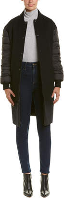Mackage Down Sleeves Reversible Leather-Trim Wool Coat