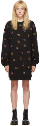 McQ Black Embroidered Swallow Dress