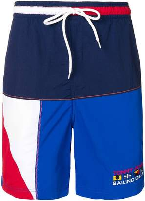 Tommy Jeans colourblock swim shorts