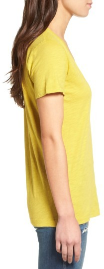 Women's Madewell 'Whisper' Cotton V-Neck Pocket Tee 3