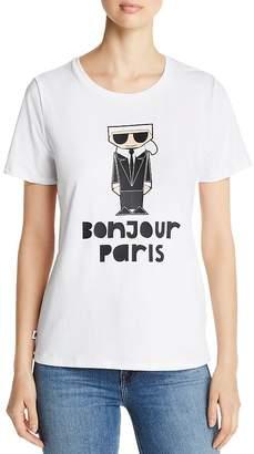 Karl Lagerfeld Paris Bonjour Tee