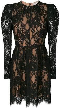 MICHAEL Michael Kors puffed sleeve layered lace dress