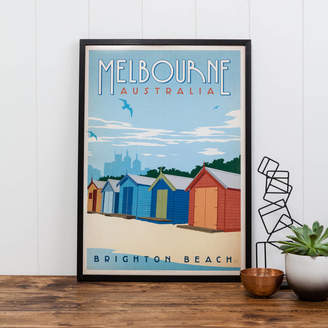 I Heart Travel Art. Melbourne Australia Travel Print