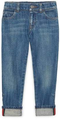 Gucci Children's denim pant with Web