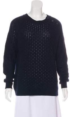Tory Burch Cable Knit Long Sleeve Sweater