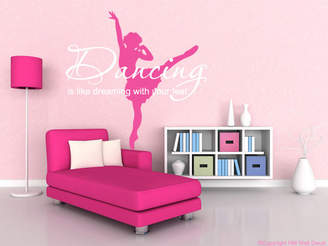 H&M Wall Decal Ballerina and Quote Removable Wall Sticker