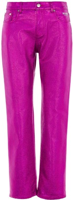 MSGM Metallic Pants