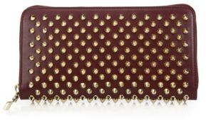 Christian Louboutin Panettone Spiked Zip-Around Wallet $650 thestylecure.com