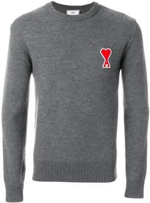 Ami Alexandre Mattiussi Crewneck Ami De Coeur Chest Patch Sweater