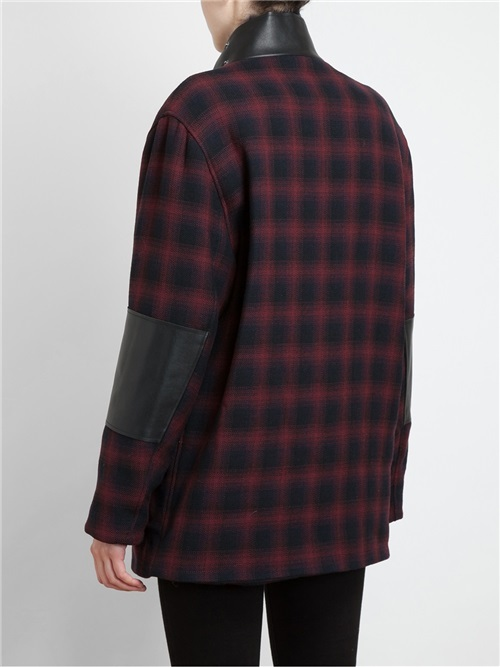 3.1 Phillip Lim Tartan Wool Jacket With Shearling Collar