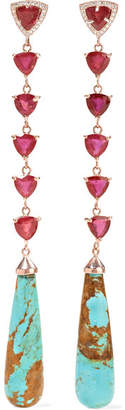 Jacquie Aiche 14-karat Rose Gold Multi-stone Earrings