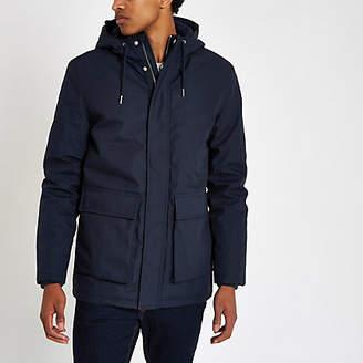River Island Minimum navy parka jacket