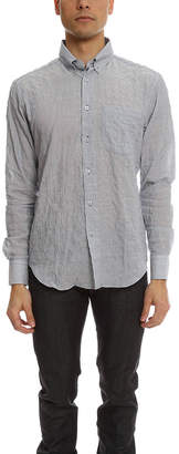 Naked & Famous Denim Regular Shirt Lightweight Hairline Stripes