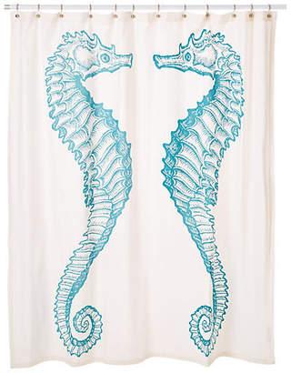 Thomas Paul Seahorse Shower Curtain - Aqua