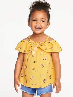Old Navy Ruffled Floral Tie-Front Cami for Toddler Girls