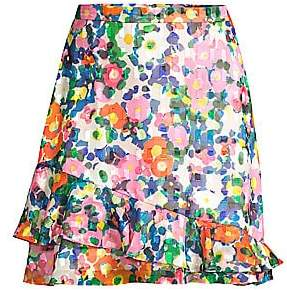 Saloni Women's Cece Ruffled Floral Skirt
