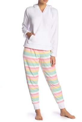 Couture PJ Faux Shearling & Faux Fur Unicorn Hoodie Plush Pajama Set