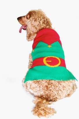 boohoo Elf Suit Dog Christmas Jumper