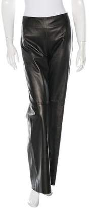 Kenzo Leather Wide-Leg Pants