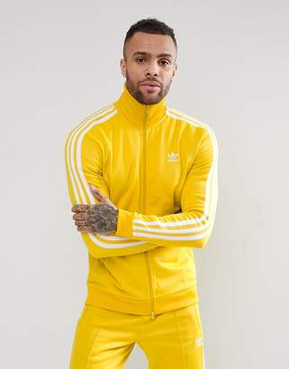 adidas adicolor Beckenbauer Track Jacket In Yellow CW1254