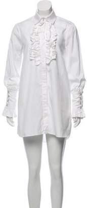 Caroline Constas Ruffled-Accented Shirt Dress