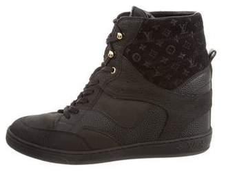 Louis Vuitton Cliff Top Wedge Sneakers