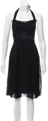 CNC Costume National Pleated Halter Dress
