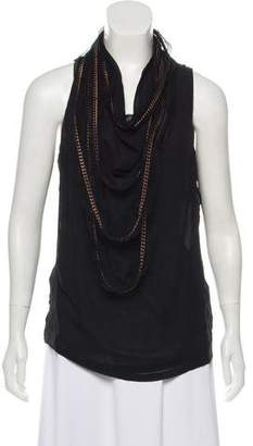 Plein Sud Jeans Sleeveless Embellished Top