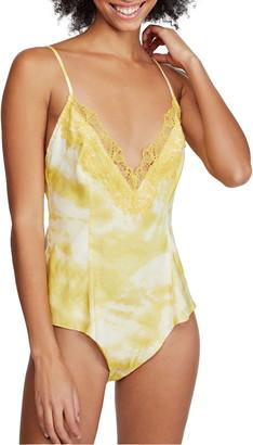 Free People Intimately FP Luella Lace Trim Bodysuit