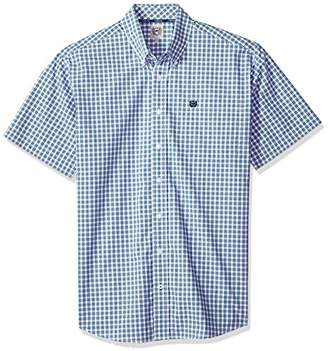 Cinch Men's Classic Fit Short Sleeve Button One Open Pocket Plaid Shirt