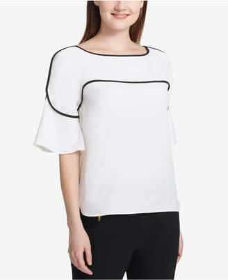 Calvin Klein Pipe-Trim Blouse