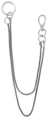Martine Ali Silver Double Baby Boxer Wallet Chain