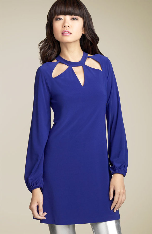 Norma Kamali 'Start Cut Out' Minidress