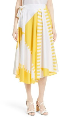 Women's Milly Peyton Wrap Skirt $475 thestylecure.com