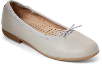 Old Soles Toddler/Kids Girls) Grey Brule Leather Flats