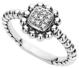 Women's Lagos Caviar Spark Diamond Square Ring $495 thestylecure.com