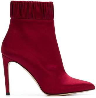 Chloé Gosselin gathered ankle boots