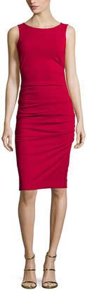 Nicole Miller Lauren Sleeveless Ruched Sheath Dress