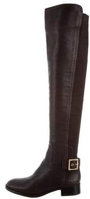 Tory Burch Over-The-Knee Round-Toe Boots