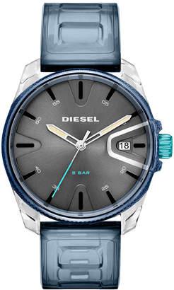 Diesel Men's Blue Polyurethane Strap Watch 44mm