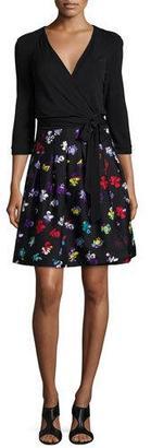 Diane von Furstenberg 3/4-Sleeve Floral-Print Wrap Dress $548 thestylecure.com