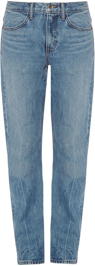 Helmut LangHELMUT LANG Low-slung boyfriend jeans