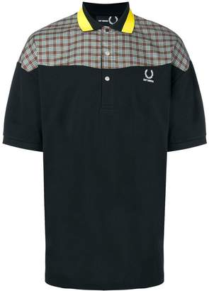 Fred Perry colourblock plaid polo shirt