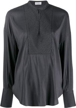 Brunello Cucinelli long-sleeve flared blouse