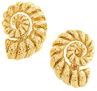 David Webb Heritage  18K Yellow Gold Earrings
