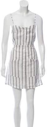 Faithfull The Brand Linen Mini Dress White Linen Mini Dress