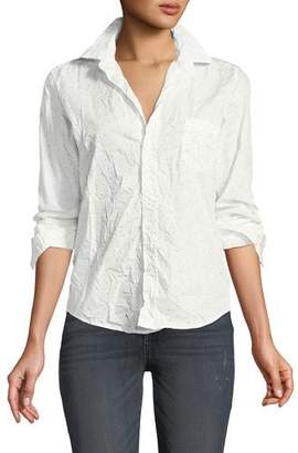 Frank And Eileen Barry Dot-Print Long-Sleeve Poplin Shirt